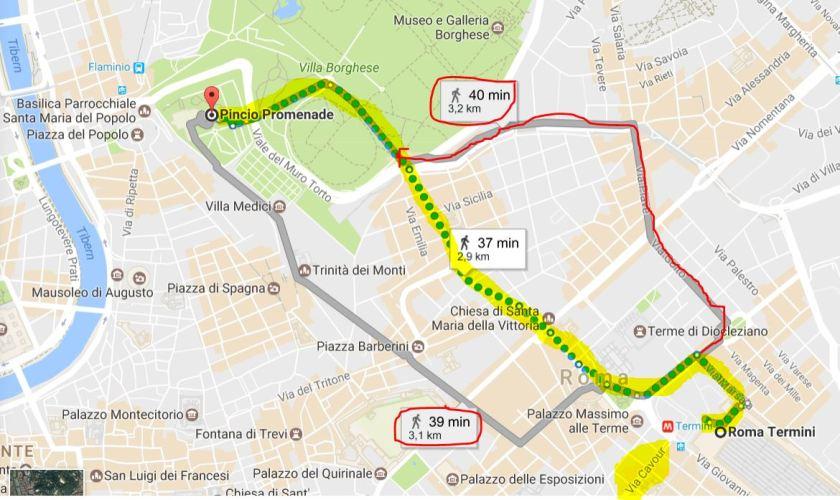 Walk to Pincio!