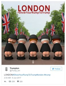 London show your rump to trump
